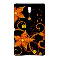Star Leaf Orange Gold Red Black Flower Floral Samsung Galaxy Tab S (8 4 ) Hardshell Case  by Mariart