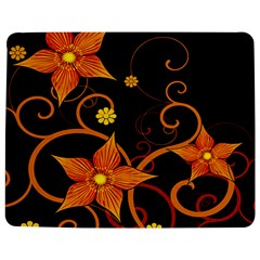 Star Leaf Orange Gold Red Black Flower Floral Jigsaw Puzzle Photo Stand (rectangular) by Mariart