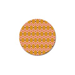 Orange Circle Polka Golf Ball Marker by Mariart
