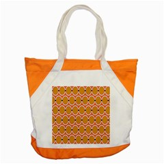 Orange Circle Polka Accent Tote Bag by Mariart