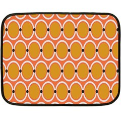 Orange Circle Polka Fleece Blanket (mini) by Mariart