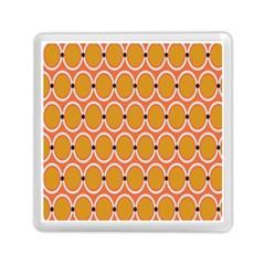 Orange Circle Polka Memory Card Reader (square)  by Mariart