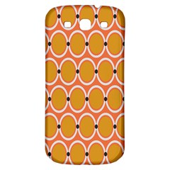 Orange Circle Polka Samsung Galaxy S3 S Iii Classic Hardshell Back Case by Mariart