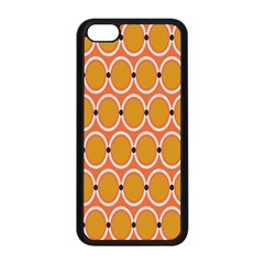 Orange Circle Polka Apple Iphone 5c Seamless Case (black) by Mariart