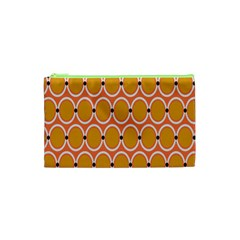 Orange Circle Polka Cosmetic Bag (xs) by Mariart