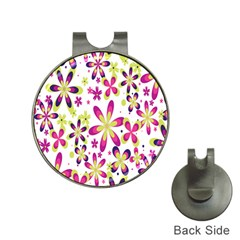 Star Flower Purple Pink Hat Clips with Golf Markers