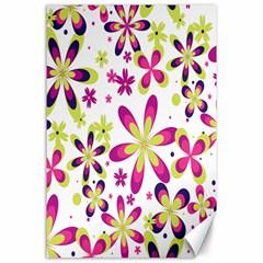 Star Flower Purple Pink Canvas 24  x 36