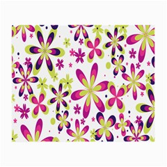 Star Flower Purple Pink Small Glasses Cloth (2-Side)