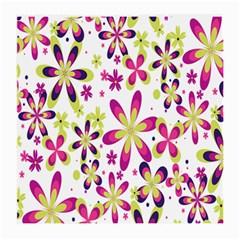 Star Flower Purple Pink Medium Glasses Cloth