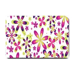 Star Flower Purple Pink Small Doormat