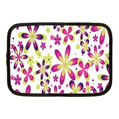 Star Flower Purple Pink Netbook Case (Medium)