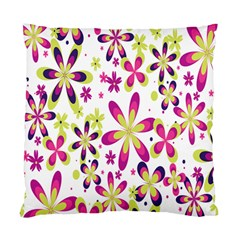 Star Flower Purple Pink Standard Cushion Case (one Side) by Mariart