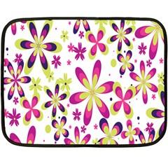 Star Flower Purple Pink Fleece Blanket (Mini)