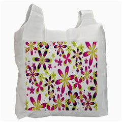 Star Flower Purple Pink Recycle Bag (Two Side)
