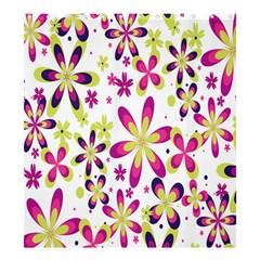 Star Flower Purple Pink Shower Curtain 66  x 72  (Large)