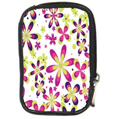 Star Flower Purple Pink Compact Camera Cases by Mariart