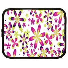Star Flower Purple Pink Netbook Case (XXL)