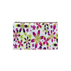 Star Flower Purple Pink Cosmetic Bag (small)  by Mariart