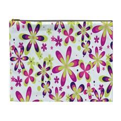 Star Flower Purple Pink Cosmetic Bag (XL)