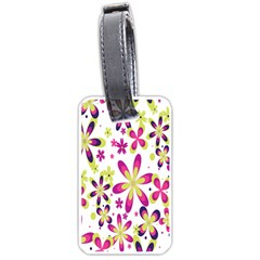 Star Flower Purple Pink Luggage Tags (One Side)