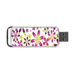 Star Flower Purple Pink Portable USB Flash (Two Sides)