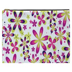 Star Flower Purple Pink Cosmetic Bag (XXXL)