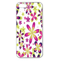Star Flower Purple Pink Apple Seamless Iphone 5 Case (clear) by Mariart