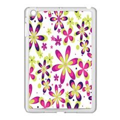 Star Flower Purple Pink Apple iPad Mini Case (White)