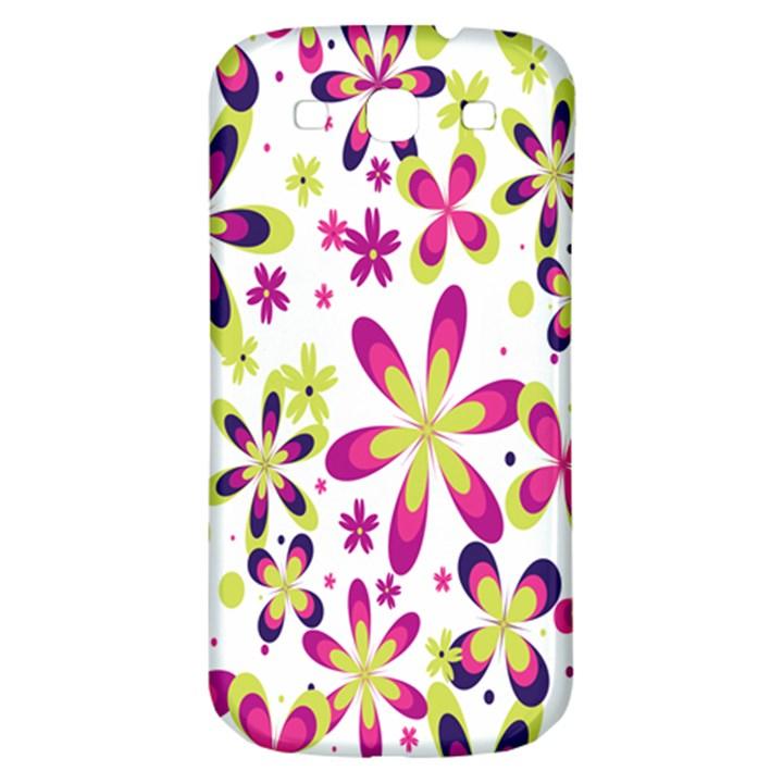 Star Flower Purple Pink Samsung Galaxy S3 S III Classic Hardshell Back Case