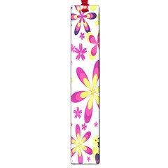 Star Flower Purple Pink Large Book Marks by Mariart