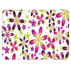 Star Flower Purple Pink Samsung Galaxy Tab 7  P1000 Flip Case