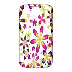 Star Flower Purple Pink Samsung Galaxy S4 Classic Hardshell Case (PC+Silicone)