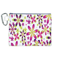 Star Flower Purple Pink Canvas Cosmetic Bag (xl) by Mariart