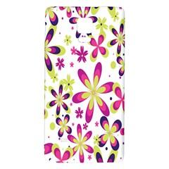 Star Flower Purple Pink Galaxy Note 4 Back Case