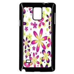Star Flower Purple Pink Samsung Galaxy Note 4 Case (Black)