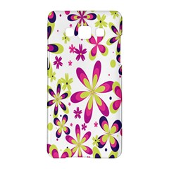 Star Flower Purple Pink Samsung Galaxy A5 Hardshell Case  by Mariart