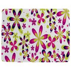 Star Flower Purple Pink Jigsaw Puzzle Photo Stand (Rectangular)