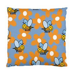Wasp Bee Honey Flower Floral Star Orange Yellow Gray Standard Cushion Case (two Sides) by Mariart