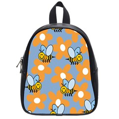 Wasp Bee Honey Flower Floral Star Orange Yellow Gray School Bags (small)  by Mariart