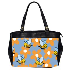 Wasp Bee Honey Flower Floral Star Orange Yellow Gray Office Handbags (2 Sides)  by Mariart