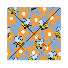Wasp Bee Honey Flower Floral Star Orange Yellow Gray Acrylic Tangram Puzzle (6  X 6 ) by Mariart