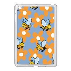 Wasp Bee Honey Flower Floral Star Orange Yellow Gray Apple Ipad Mini Case (white) by Mariart