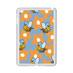 Wasp Bee Honey Flower Floral Star Orange Yellow Gray Ipad Mini 2 Enamel Coated Cases by Mariart