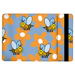 Wasp Bee Honey Flower Floral Star Orange Yellow Gray Ipad Air Flip by Mariart