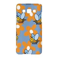 Wasp Bee Honey Flower Floral Star Orange Yellow Gray Samsung Galaxy A5 Hardshell Case  by Mariart