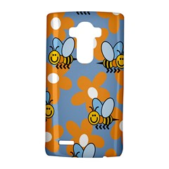 Wasp Bee Honey Flower Floral Star Orange Yellow Gray Lg G4 Hardshell Case by Mariart