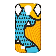 Wave Chevron Orange Blue Circle Plaid Polka Dot Samsung Galaxy S4 Classic Hardshell Case (pc+silicone) by Mariart