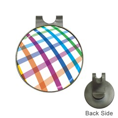 Webbing Line Color Rainbow Hat Clips With Golf Markers by Mariart