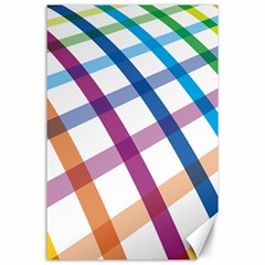 Webbing Line Color Rainbow Canvas 24  X 36  by Mariart