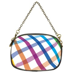 Webbing Line Color Rainbow Chain Purses (two Sides)  by Mariart